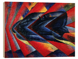 Wood print  The Dynamism of an Automobile - Luigi Russolo