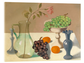 Acrylic print  Still life with grapes - Gustave van de Woestyne