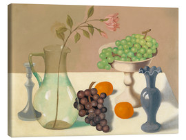 Canvas  Still life with grapes - Gustave van de Woestyne