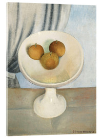 Acrylic print  Still Life with fruit bowl - Gustave van de Woestyne