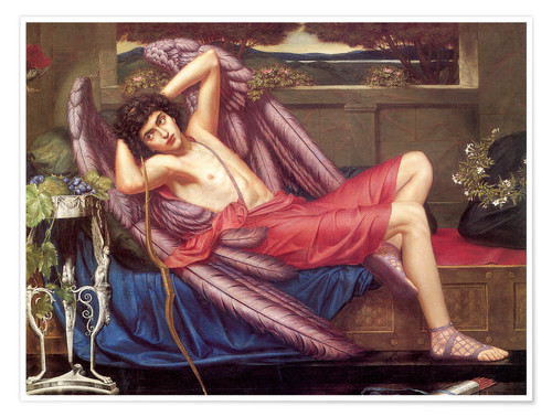 Premium poster Eros, Love in Idleness or Icarus
