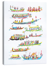 Canvas print  Lots of Boats - Peter Allen
