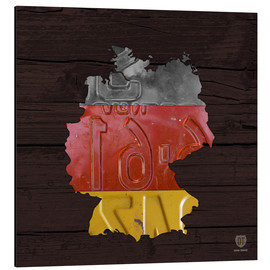 Aluminium print  Germany Map in License Plates - Design Turnpike