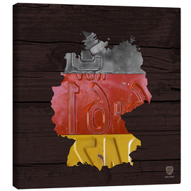 Canvas print  Germany Map in License Plates - Design Turnpike