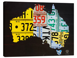 Canvas print  Australia License Plate Map - Design Turnpike