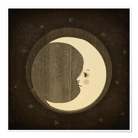 Premium poster  Moon in the night - Little Miss Arty