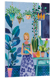 Foam board print  Urban Jungle Girl - Mila Marquis