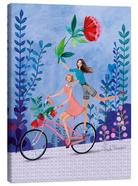 Canvas  Merry bike ride - Mila Marquis
