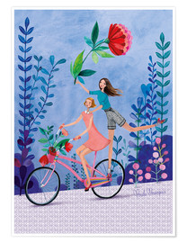 Premium poster  Merry bike ride - Mila Marquis