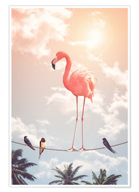 Premium poster  Flamingo and Friends - Jonas Loose