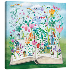 Canvas  Book garden - Mila Marquis
