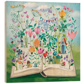 Wood  Book garden - Mila Marquis