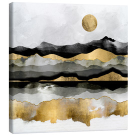 Canvas print  Golden Spring Moon - SpaceFrog Designs