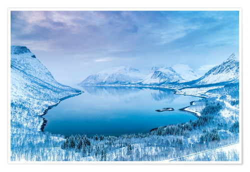 Premium poster Norwegian Winter Wonderland (Island of Senja)