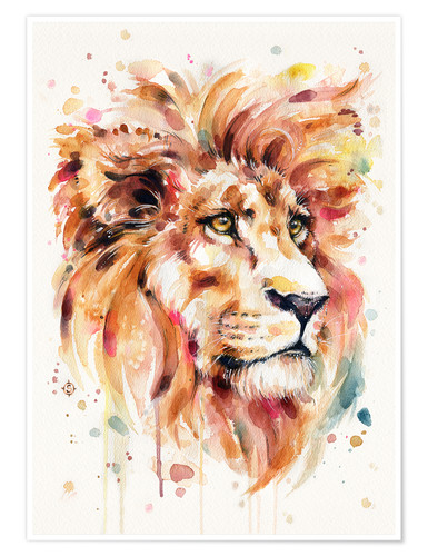 Premium poster All Things Majestic (Lion)