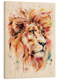 Wood print  All Things Majestic (Lion) - Sillier Than Sally