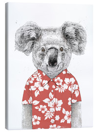 Canvas print  Koala Bear with Hawaiian Shirt - Balazs Solti