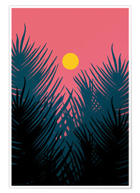 Premium poster Morning Palm Leaves