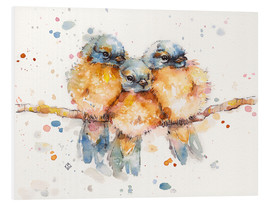 Foam board print  Little bluebirds - Sillier Than Sally