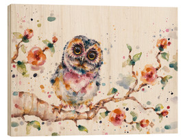 Wood print  Yep Cute Is My Middle Name (baby Owl) - Sillier Than Sally
