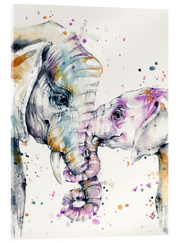 Acrylic glass  That Type Of Love (elephants) - Sillier Than Sally