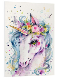 Foam board print  Little unicorn - Sillier Than Sally