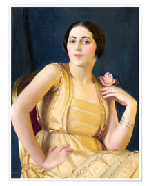 Premium poster  Little Russian - William McGregor Paxton