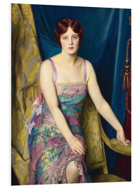 Foam board print  glitter - William McGregor Paxton