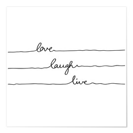 Premium poster Love Laugh Live