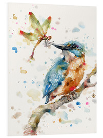 Foam board print  Interesting relationships (kingfisher and dragonfly) - Sillier Than Sally