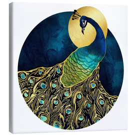 Canvas print  Golden Peacock - SpaceFrog Designs