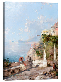 Canvas  Sorrento, Gulf of Naples - Franz Richard Unterberger
