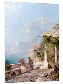 Foam board print  Sorrento, Gulf of Naples - Franz Richard Unterberger