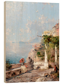 Wood print  Sorrento, Gulf of Naples - Franz Richard Unterberger