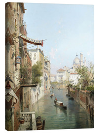 Canvas print  Canale San Barnaba, Venice - Franz Richard Unterberger