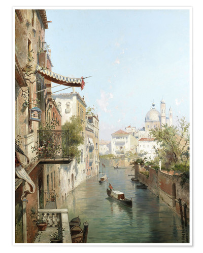 Premium poster Canale San Barnaba, Venice