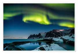 Premium poster Aurora Borealis above the island of Senja (Northern Norway)