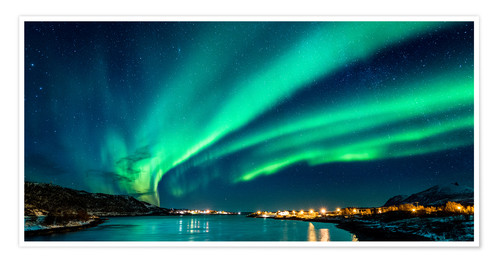 Premium poster Northern Lights in Northern Norway