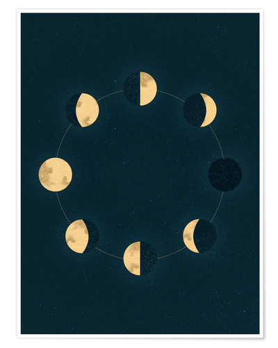 Poster Moon phases