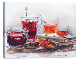 Canvas print  Watercolor still life with Jam jars - Maria Mishkareva