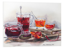 Forex  Watercolor still life with Jam jars - Maria Mishkareva