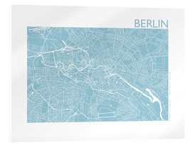 Acrylic glass  City map of Berlin - 44spaces