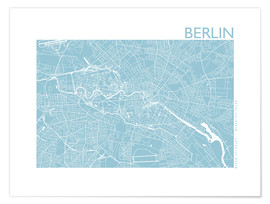 Premium poster City map of Berlin