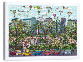 Canvas print  Cologne, Ratenauplatz - Cartoon City