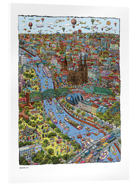 Acrylic print  Cologne - Cartoon City