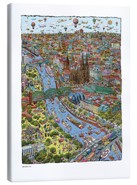 Canvas print  Cologne - Cartoon City