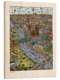 Wood print  Cologne - Cartoon City