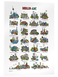 Acrylic print  Berlin abc - Cartoon City