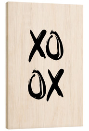 Wood  XOXO - Typobox