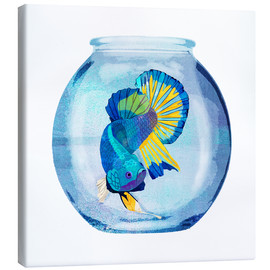 Canvas print  Fish in the glass - Goed Blauw